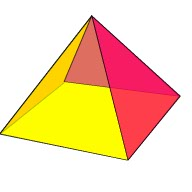Drawn pyramid 3d shape Triangle Shapes Relationship 3D to