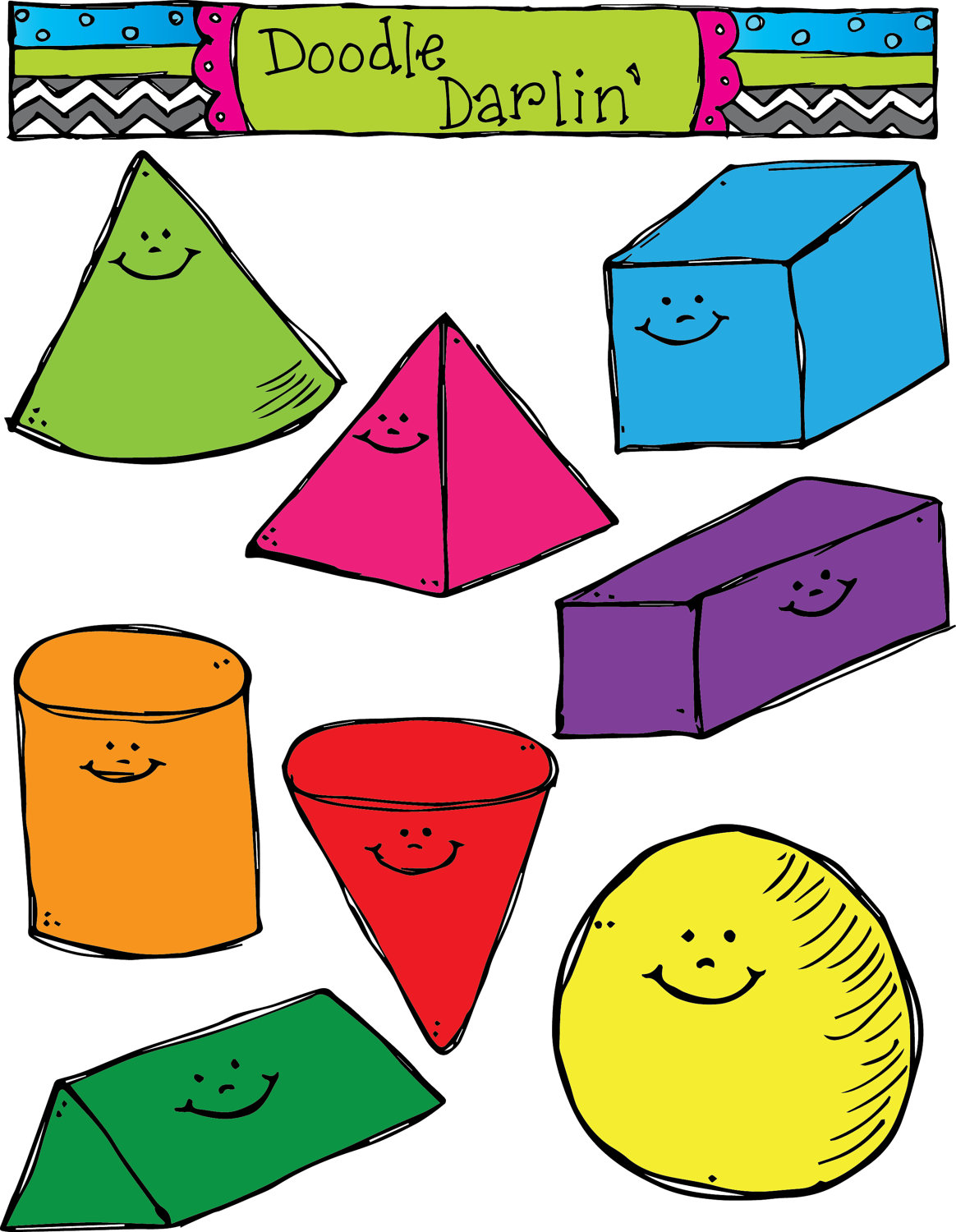 Geometry clipart geometric shape 3d clipart collection Geometric clipart