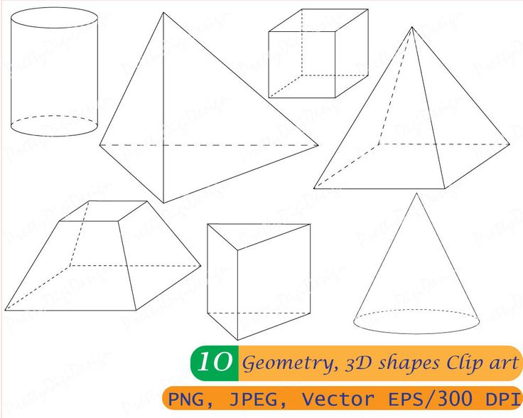 Geometry clipart geometric shape Pinterest Instant Math 3D Cylinder