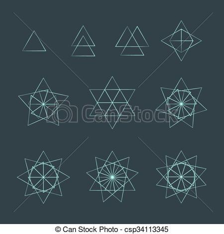 Geometry clipart geometry set Contour contour EPS  sacred