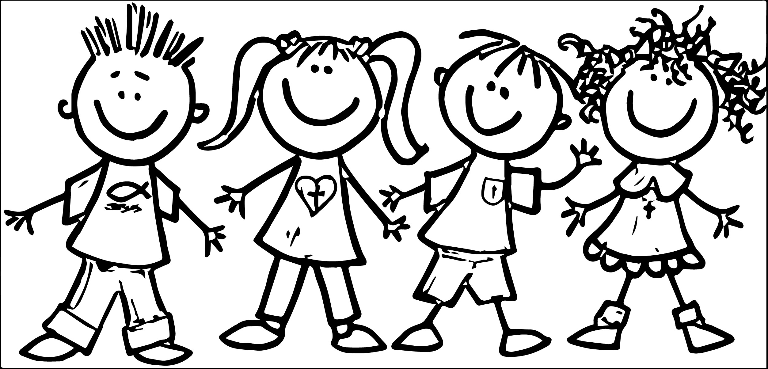 Child clipart black and white Preschool clipart art free clip