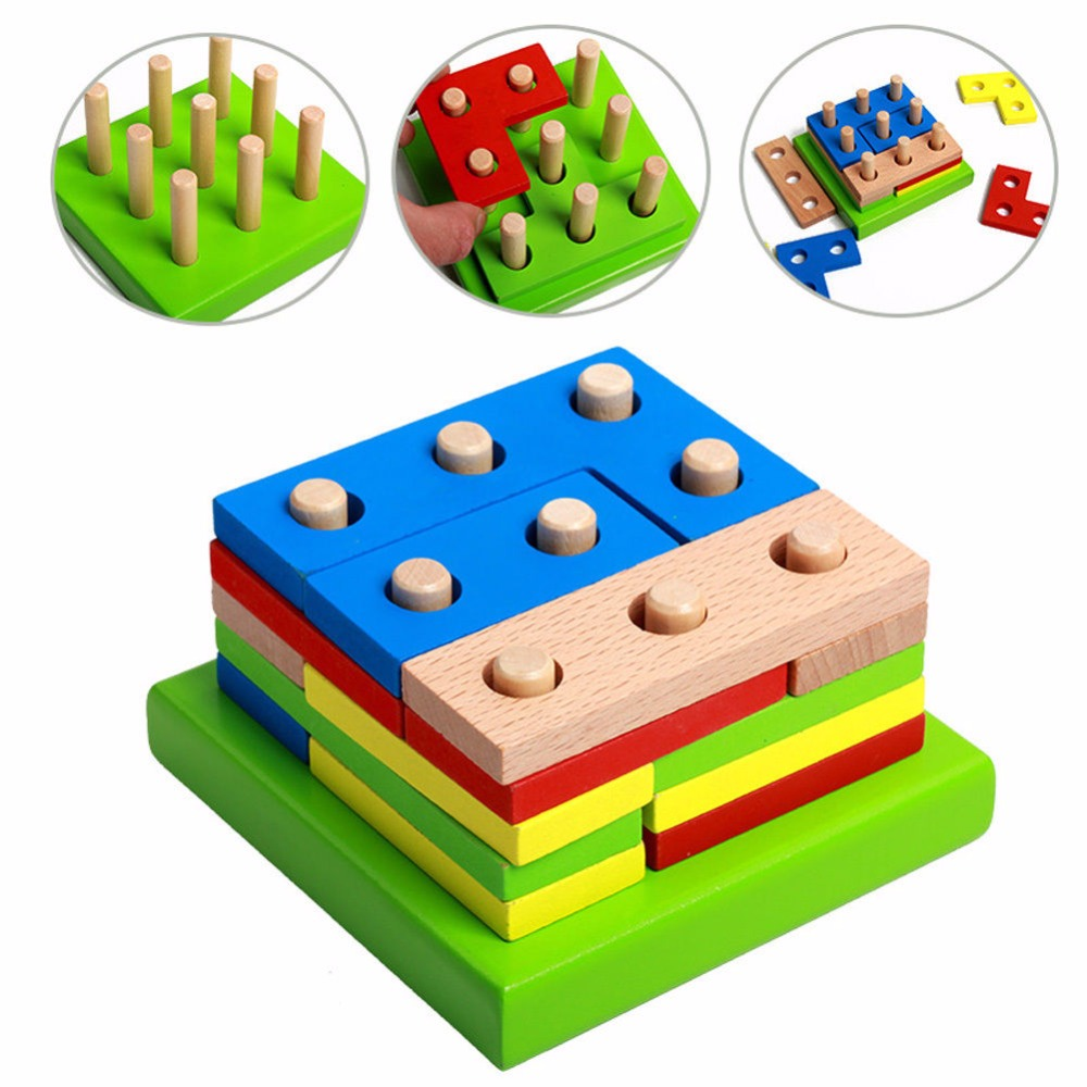 Geometry clipart learning material Kids Baby Online Building Wood