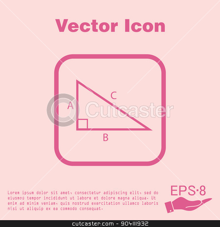 Geometry clipart learning material Math symbol learning vector icon