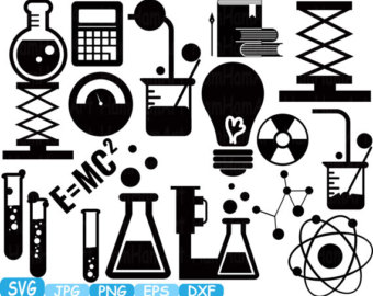 Scientist clipart math and science Dxf files monogram eps education