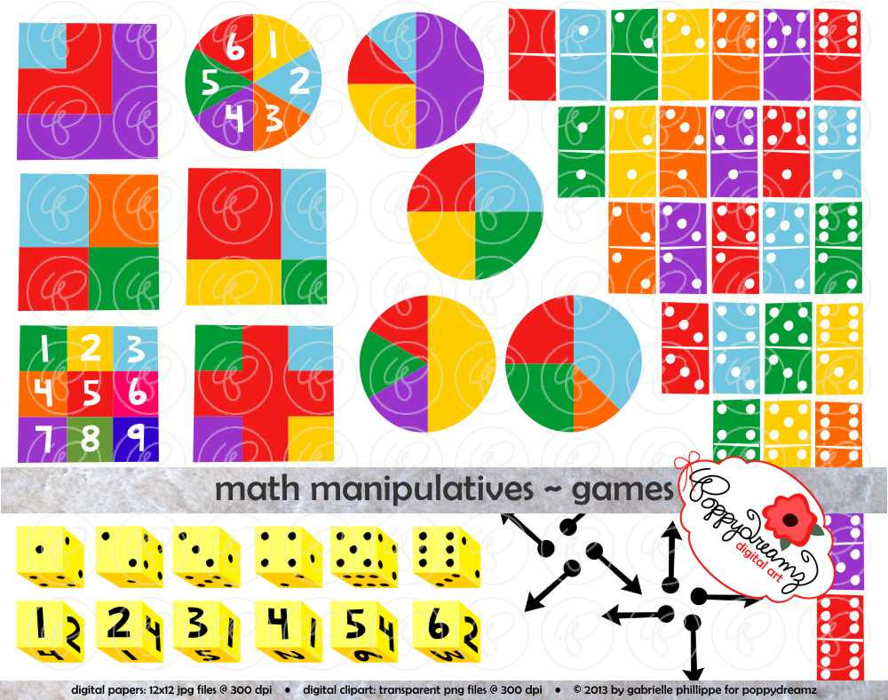 Shapes clipart math manipulative #1
