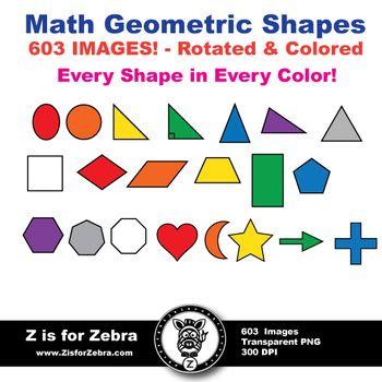 Shapes clipart math manipulative #3