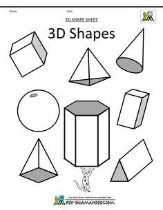Geometry clipart math project Geometric and 3d Draw Kids