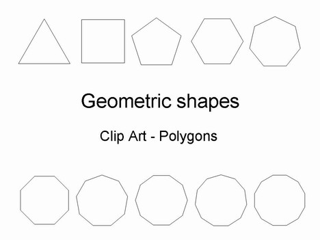 Shapes clipart template #8