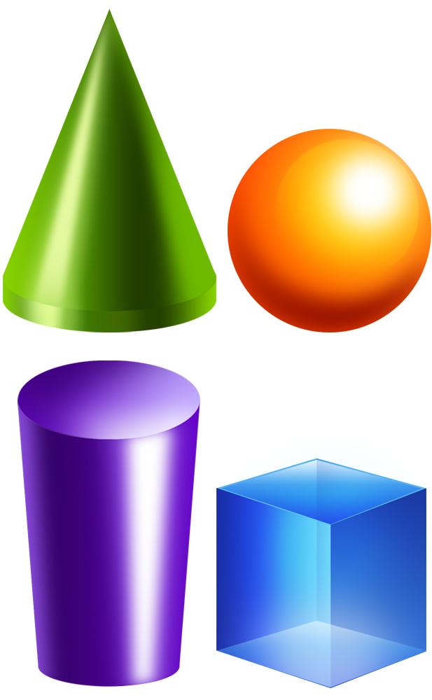 Other clipart 3d shapes Clipart 3d Geometric Shape solids
