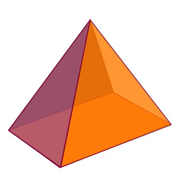 Geometry clipart square shape What based pyramid? a K