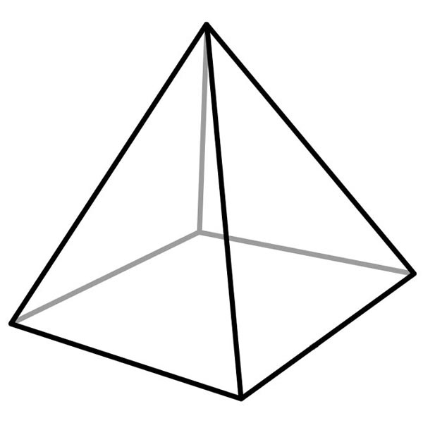 Drawn pyramid mathematical Pyramid picture a polyhedron Images