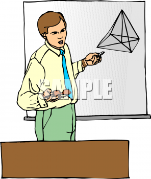 Geometry clipart teacher Giving A Geometry A Male