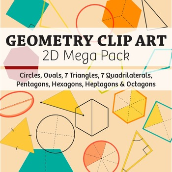 Geometry clipart teacher Mega materials posters illustrations shapes