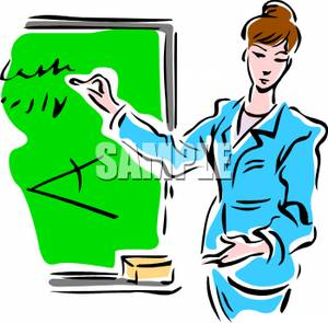 Geometry clipart teacher Clipart Clipart Image Woman on