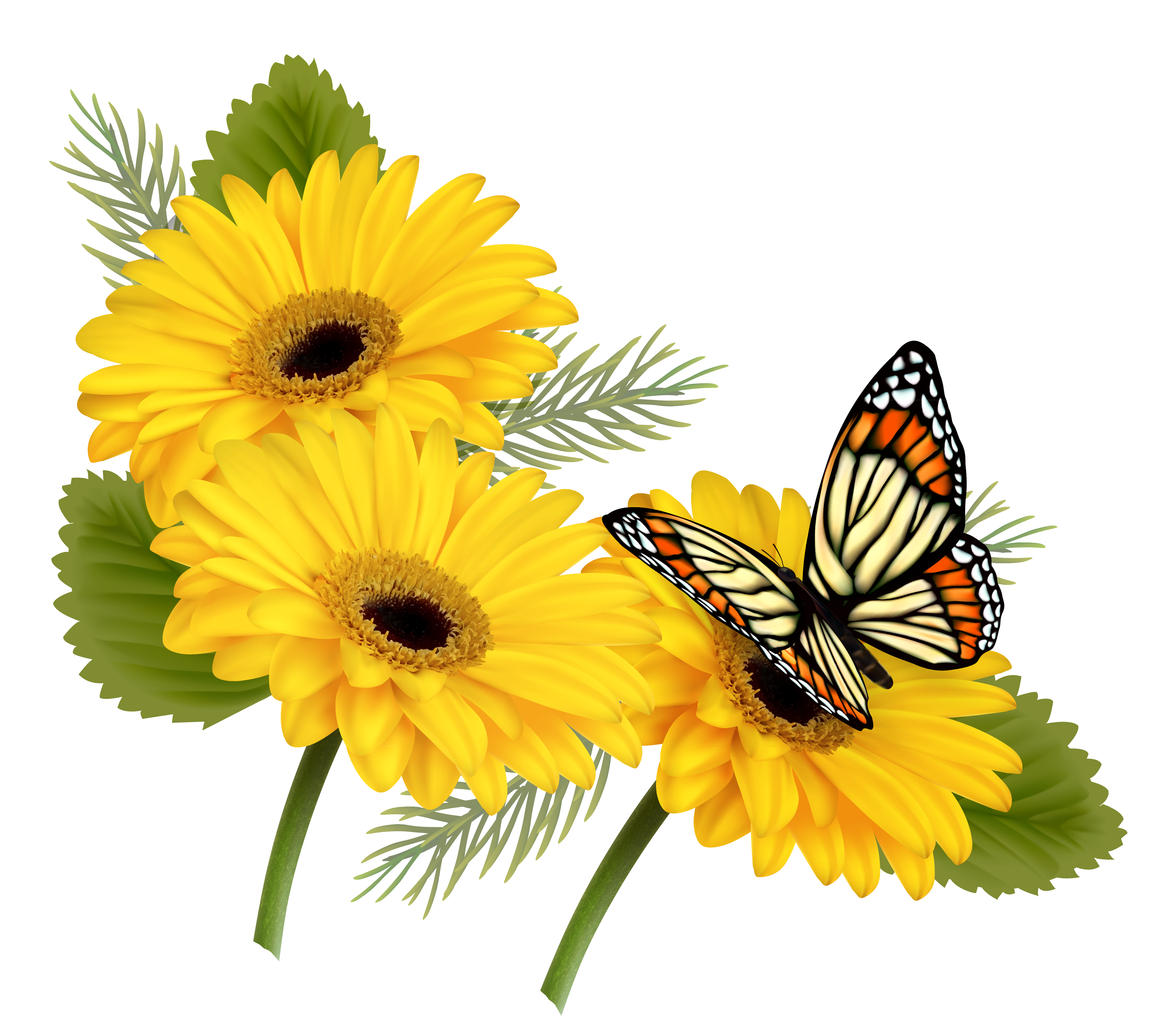 Yellow Flower clipart png format Clipart View full PNG Gallery