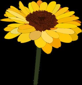 Gerbera clipart sunflower Clip Clip Clker clip com
