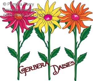 Petal clipart flower template Daisies Gerbera Art Illustration Art