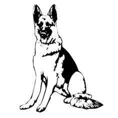Black & White clipart german shepherd Retrievers gifts German Pinterest Decals: