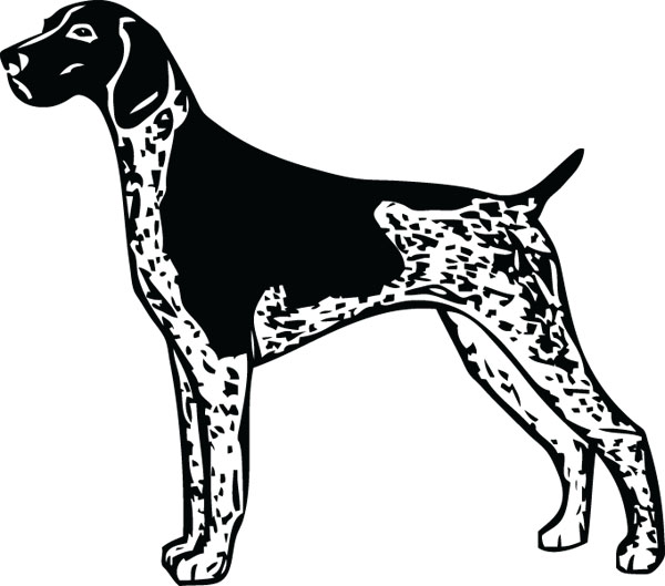 German Shorthaired Pointer clipart Products For GSP Shorthaired GerSHPointer2