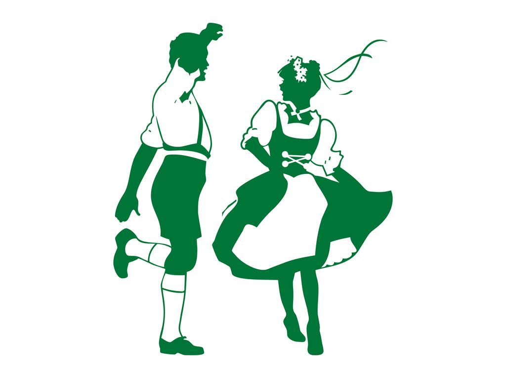 Germany clipart german food Dance People Dancing German Art