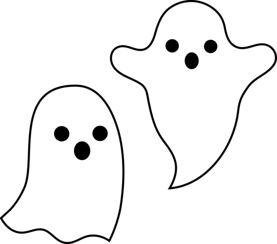 Spooky clipart black and white Clipart Clip Panda Ghost Art