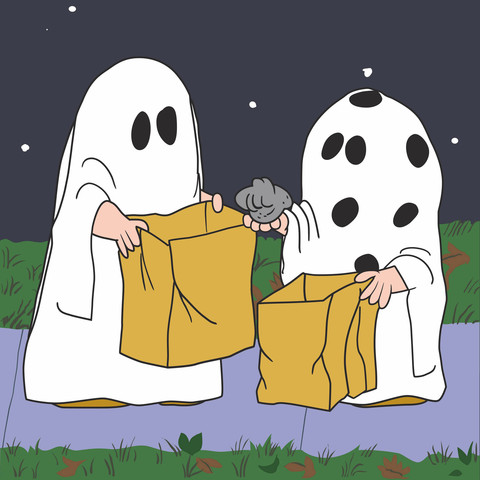 Ghostly clipart charlie brown Peanuts Peanuts Wall gang Peanuts