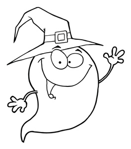 Ghostly clipart coloring page Coloring Page Ghost Ghost Halloween