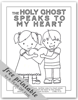 Ghostly clipart coloring page Holy FHE OF page A
