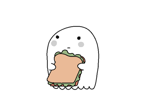 Ghostly clipart cute tumblr  eating It Ghost sandwich