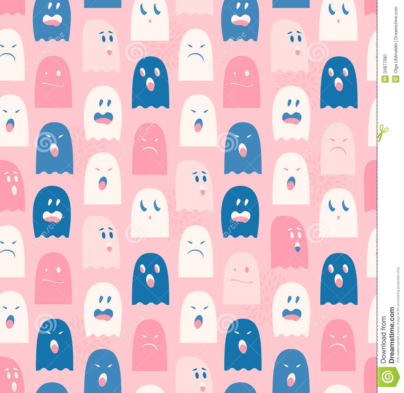 Ghostly clipart cute tumblr Cute Background  inSharePics Seamless