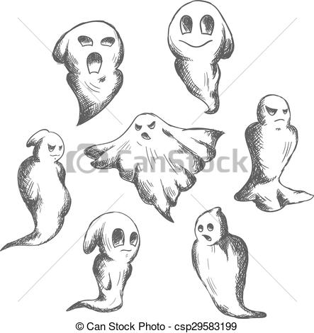 Ghostly clipart eerie And eerie Eerie Halloween Vectors