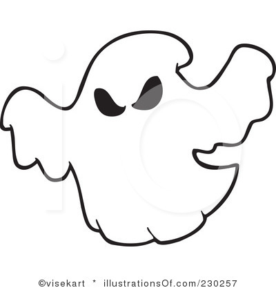 White clipart ghost Clipart Outline Ghost Panda Clipart