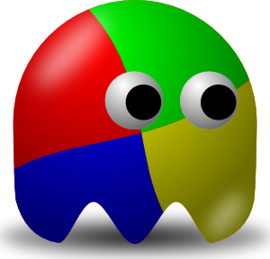 Ghostly clipart vector #4