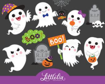 Ghostly clipart mouth Kawaii clipart Art halloween Clipart
