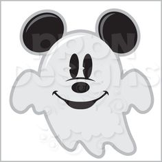 Ghostly clipart mickey Ghost PPbN Halloween Members (http
