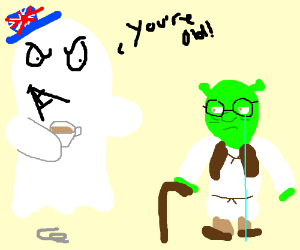 Ghostly clipart old man Ghost shrek ghost teases British
