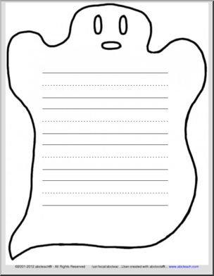Ghostly clipart paper 3 ruled ruled Paper Ghost