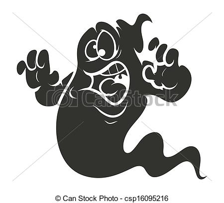 Ghostly clipart silhouette Vector Silhouette  of Silhouette
