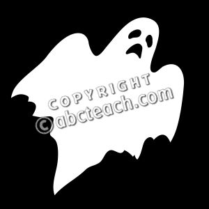 Ghostly clipart silhouette Ghost Clip  Silhouette Art