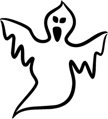 Ghostly clipart silhouette Ghost of Silhouette Silhouette Ghost