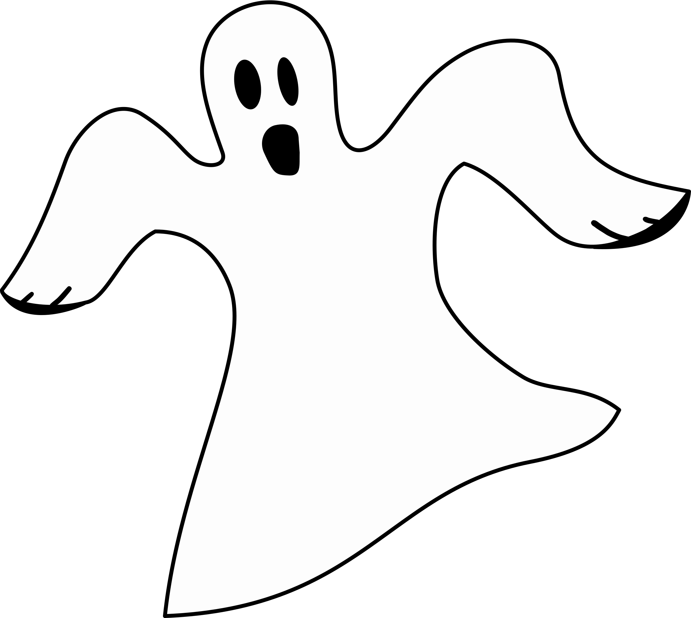 Ghostly clipart simple Simple Clipart Simple White Ghost