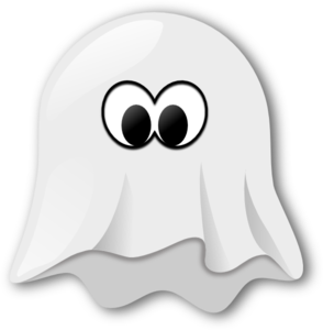Ghostly clipart vector #2