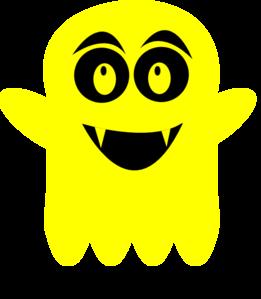 Ghostly clipart yellow Vector Art  Clker art