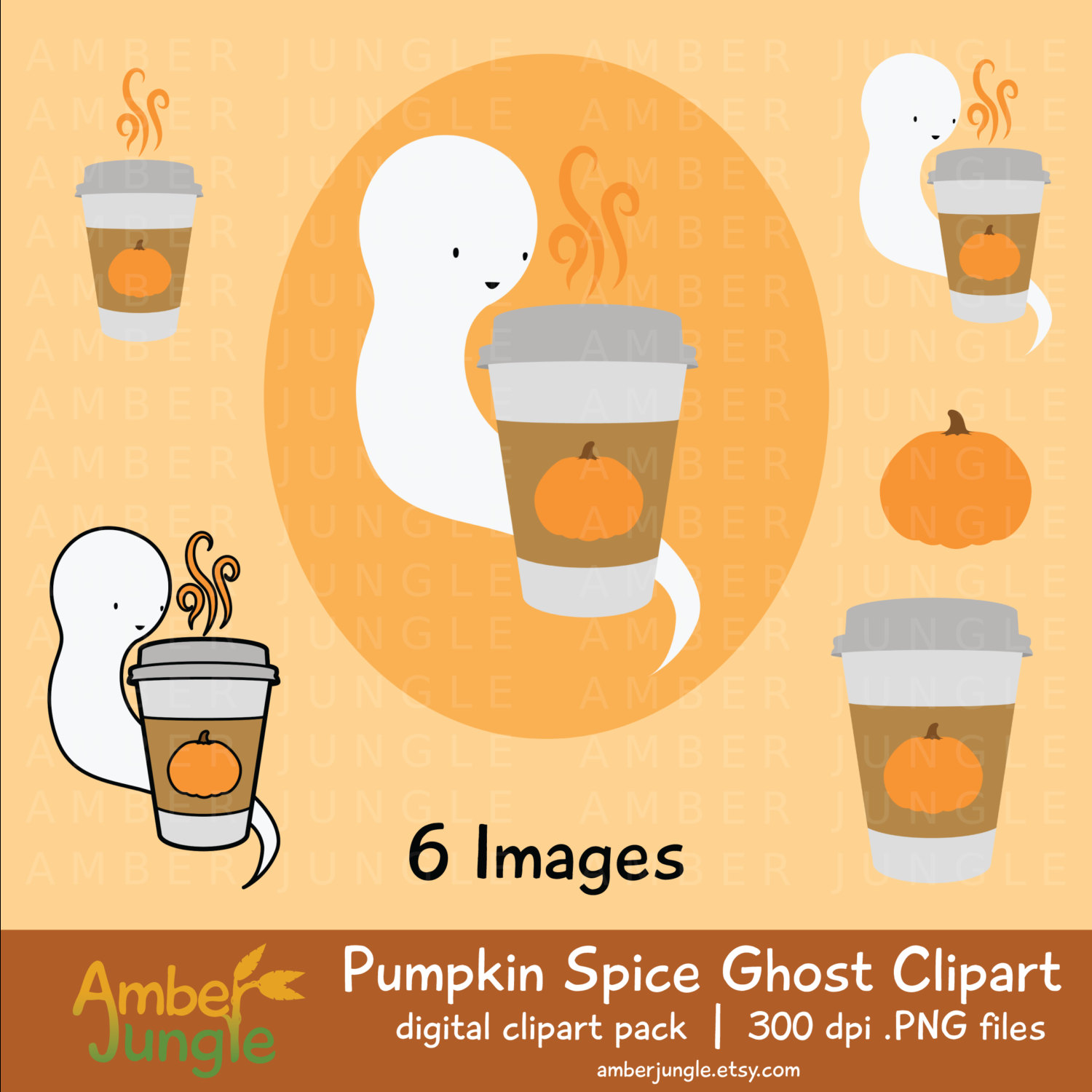 Ghostly clipart fall #3
