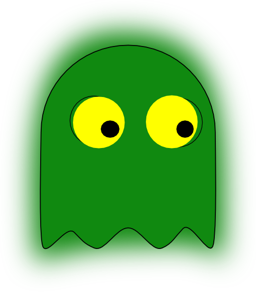 Ghostly clipart yellow Green this personal domain simple