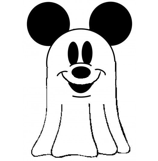 Ghostly clipart kid Mickey Disney Coloring Pages Pinterest