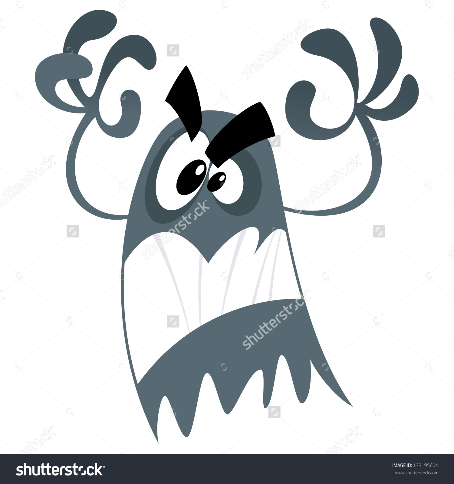 Ghostly clipart fears Cute No Ghost Cartoon Scary