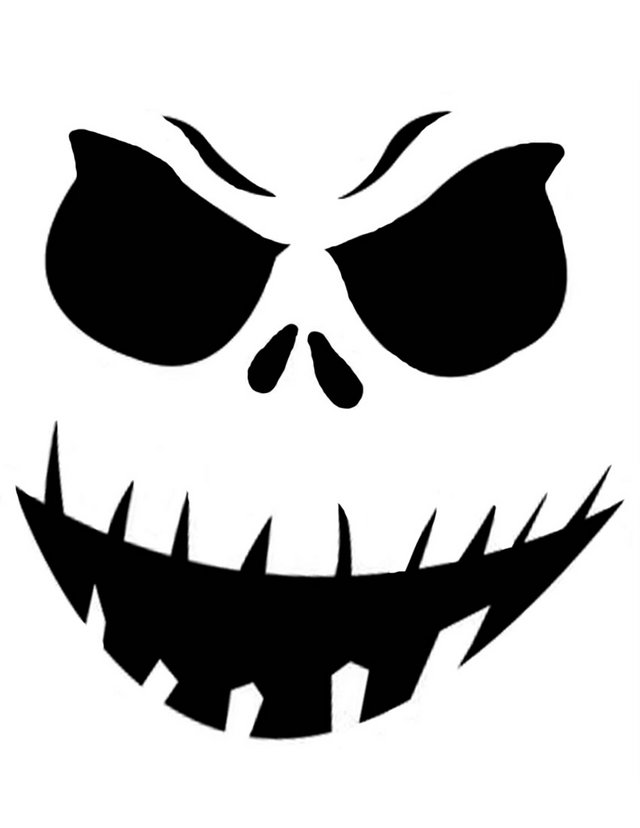 Ghostly clipart easy Template for face halloween stencils