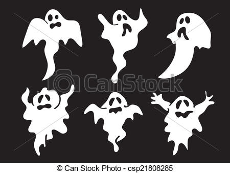 Ghostly clipart eerie Cute for of White csp21808285