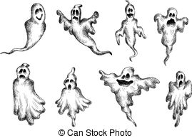 Ghostly clipart eerie Illustrations Eerie Eerie and halloween